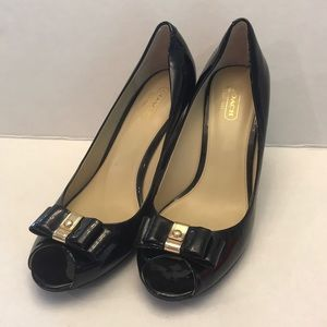 "Coach ""Emma"" Black Patent Shoes 8-1/2 B"